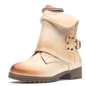 🔥BOGO🔥 🆕 Karkein beige Moto combat zip up boots